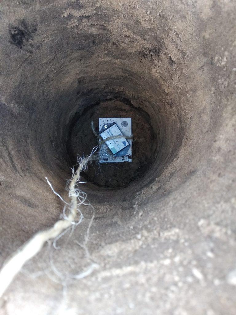Ondergronds graven van het instrument